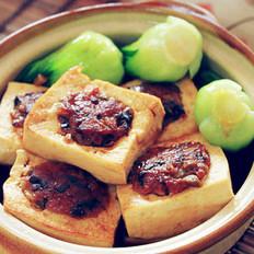 香菇肉末蒸酿豆腐的做法