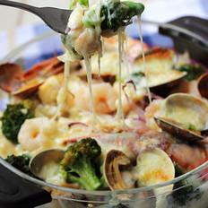 海鲜芝士焗饭的做法