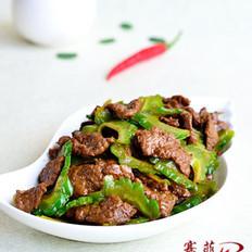 葱香苦瓜炒牛肉的做法