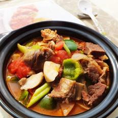 番茄蘑菇炖牛肉的做法