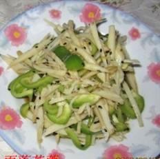 青椒拌藕丝的做法