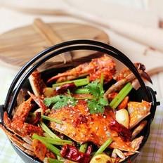 干锅香芹麻辣蟹的做法