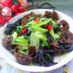 黑木耳炒青菜的做法