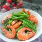 豇豆炒虾的做法