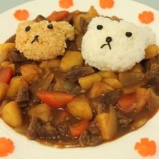 小熊咖喱饭的做法