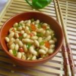 双椒拌黄豆的做法