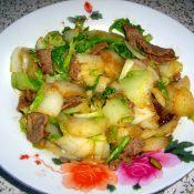 肉炒大白菜的做法