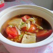 番茄豆腐菌菇汤的做法