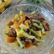 土豆豆角烩兔肉的做法