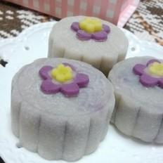 椰香紫薯栗蓉冰皮月饼的做法