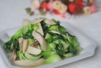 青菜炒杏鲍菇的做法