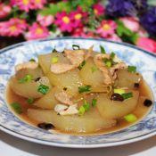 豆豉肉片烧冬瓜的做法