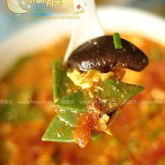 番茄鸡蛋菠菜面片儿汤的做法