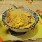 鸡蛋肉丝炒米粉的做法