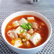 麻辣鸡腿豆腐的做法