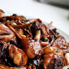 茶树菇麻油香锅鸡的做法