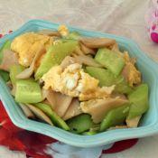 杏鲍菇鸡蛋炒黄瓜的做法