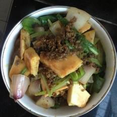 咖喱牛肉末烩饼