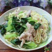 肉丝菜汤面的做法