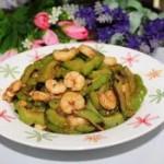 豆豉虾仁炒苦瓜的做法