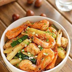 干锅基围虾的做法
