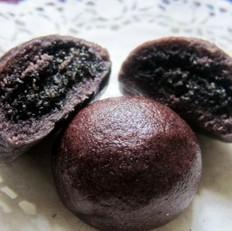 黑米黑洋酥馒头的做法