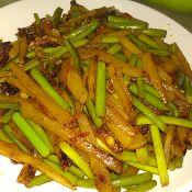 香菜炒土豆条