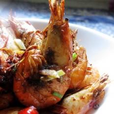 炒胡椒虾的做法