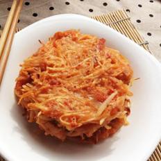 培根泡菜土豆丝煎饼的做法