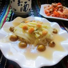 干贝栗子烧白菜的做法
