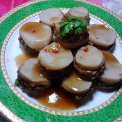 清蒸蚝油鲍菇夹的做法
