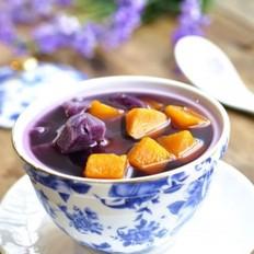 南瓜紫薯糖水的做法