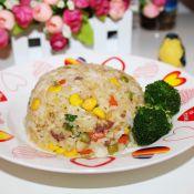 牛肉蔬菜粒炒饭的做法
