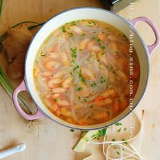 萝卜煮河虾的做法
