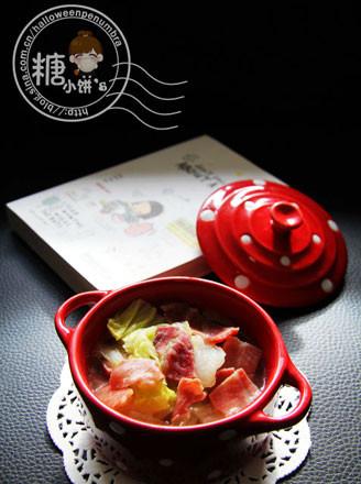 火腿炖白菜的做法