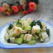 黄瓜拌藕丁的做法