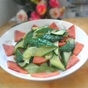火腿炒黄瓜的做法
