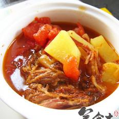 剩菜番茄土豆浓汤的做法