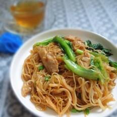 生菜炒米粉的做法