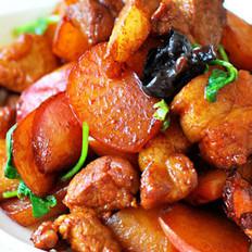 水蘿卜燒肉的做法