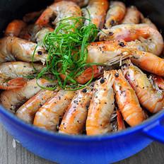 黑椒干锅虾的做法