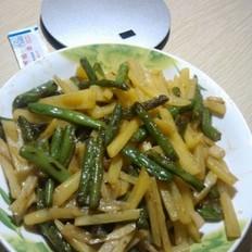四季豆炒土豆条
