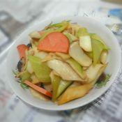 杏鲍菇青椒炒胡萝卜