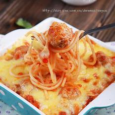 茄汁肉丸奶酪焗面的做法