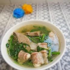 西洋菜滚瘦肉粉肠汤的做法