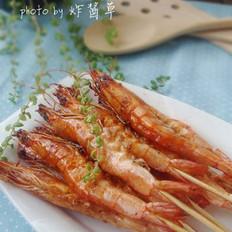 叉燒串串蝦的做法