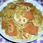 火腿炒藕片