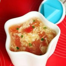 西红柿鱼皮蛋汤