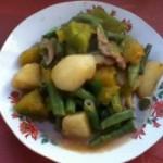 南瓜炖土豆豆角