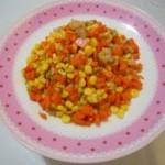 红萝卜炒玉米的做法